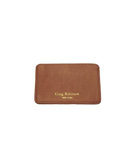 British Tan Card Wallet Front