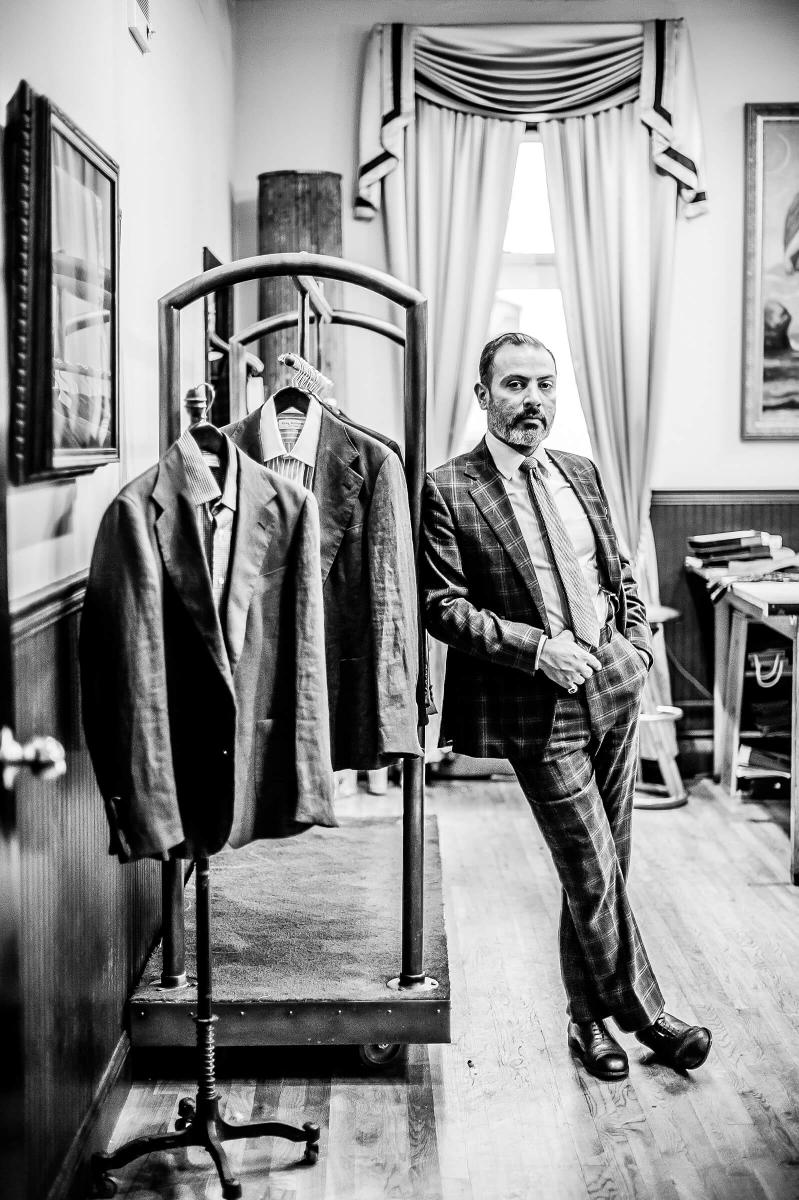 Craig Robinson creates custom tailored, bespoke suits.
