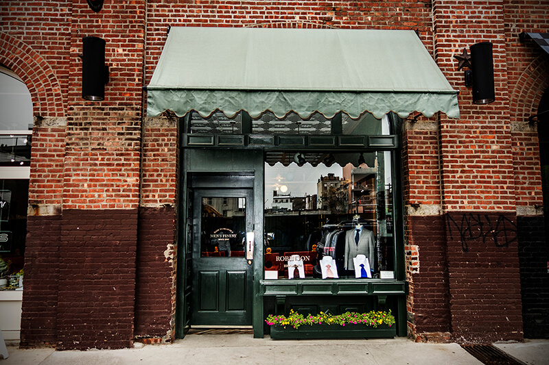store front, bespoke clothing, made to measure, brooklyn